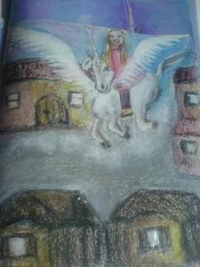 Asiria fliegt zur Schule